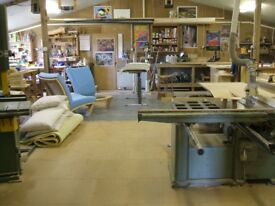 Workshop space to let with woodworking machinery