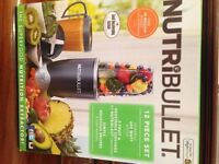 Nutri Bullet for blending, smoothie making, juicing 12 piece set etc