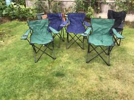 ALL 3 FOLDING PICNIC CHAIRS