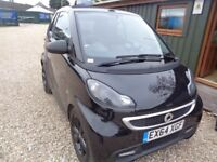 SMART FORTWO 1.0 Grandstyle Plus Cabriolet Softouch 2dr Auto (black) 2014