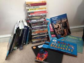 Large collection of teaching books and DVDS for secondary English
