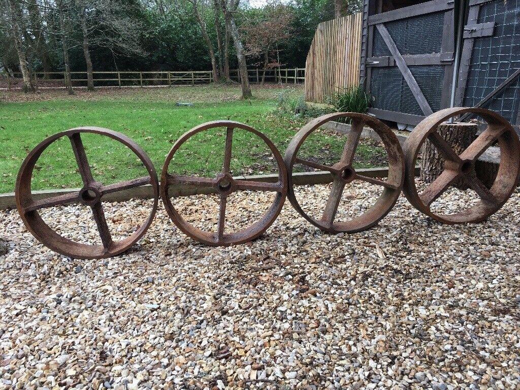 4 Shepherds Hut Wheels (metal)
