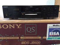 Prestige Condition Sony MDS-JB920 Mini Disc Player
