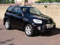 EXCELLENT EXAMPLE!!! 2001 BLACK TOYOTA RAV4 2.0 VVT-i NRG 3dr, LONG MOT, WARRANTY