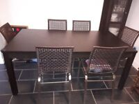 Wooden Extendable Dining table Black Brown (IKEA Bjursta) £20
