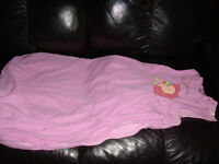 Used Baby Sleeping Bag 'Sweet dreams' in pink, 12 months upwards. From smoke and pet free house.