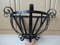 Wrought Iron Wall Mounted Container