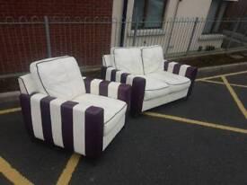 2+1 leather sofa