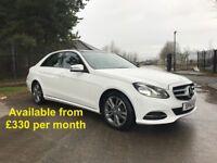Mercedes E220 (E280 E320 530d 520d A4 A6 A7) £330 per month