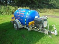 jet washing bowser diesel engine with cat pump very good con may take px