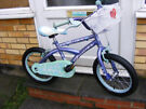 """GIRLS 16"""" WHEEL BIKE WITH FITTED BASKET IN GOOD WORKING ORDER AGE 5+"""