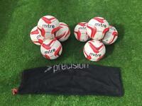8 Mitre Impel Footballs Size 5 with Bag