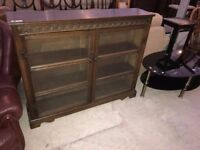 Oak Priory Style Display Book case shelf Cabinet Delivery Available