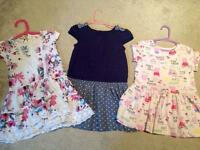 Aged 2 to 3 Next and Debenhams dresses.