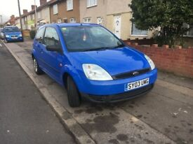 Ford Fiesta, 1.3 petrol, 1 year mot, good tyres, low mileage,looking nice and clean inside and out