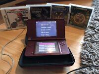 Nintendo DSi XL Wine Red + 4 Games £80 (No Trading)