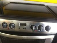 Stainless steel belling 60cm ceramic hub electric cooker grill & double fan assisted ovens with gu
