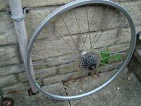 rear mountain bike wheel 26 inch non disc - acera x hub + cassette - bike parts