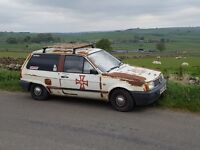 VW 1991 polo bread van rat look 6 months MOT drives very well gets lots of attention