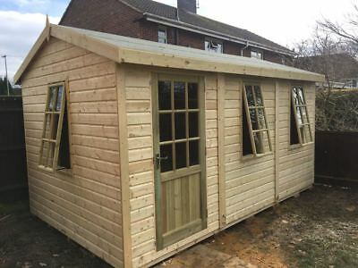 14 X 8 19mm Tanalised Apex Georgian Summer House/Garden Room