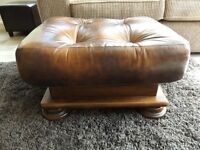 real leather stool
