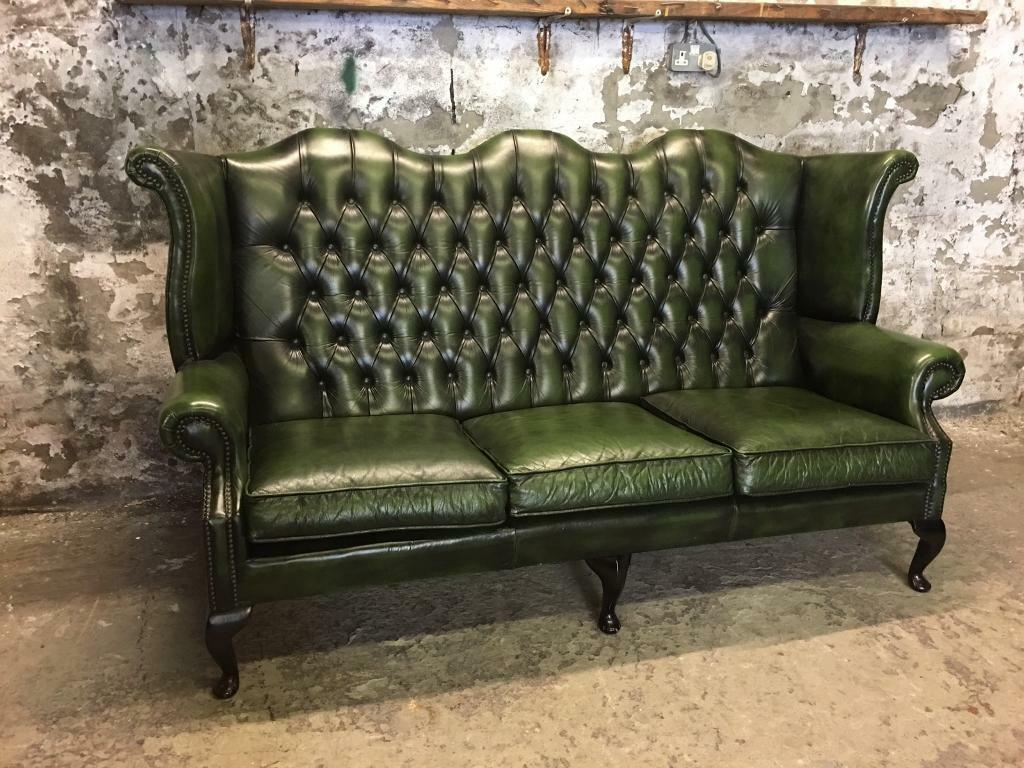 3 seater high back chesterfield sofa in leigh manchester gumtree. Black Bedroom Furniture Sets. Home Design Ideas