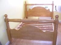 CAN DELIVER - BARLEY TWISTED BEAUTIFUL KING SIZE BED FRAME IN GREAT CONDITION - HEAVY AND STRONG