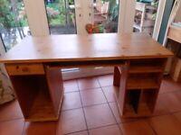 Ikea desk 61 x 130cm with storage, used.