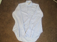 Details about T.M. Lewin - Light Blue & White Striped Shirt - Size 15.5 / 34.5 Lightly Used