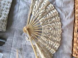 Ivory lace fan