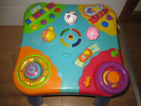 TRULY AMAZING BABY ACTIVITY TABLE - MANY BUTTONS TO PRESS & SOUNDS TO HEAR - IMMACULATE 6mths+ XMAS?