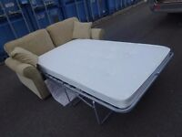 Immaculate Condition Quality Beech Sofa bed,Can Deliver