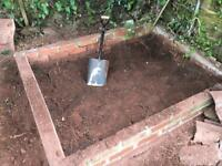 Decent loose earth/top soil