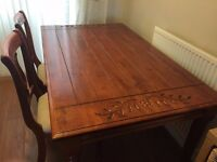 Dining Table with 6 Chairs and Matching Sideboard