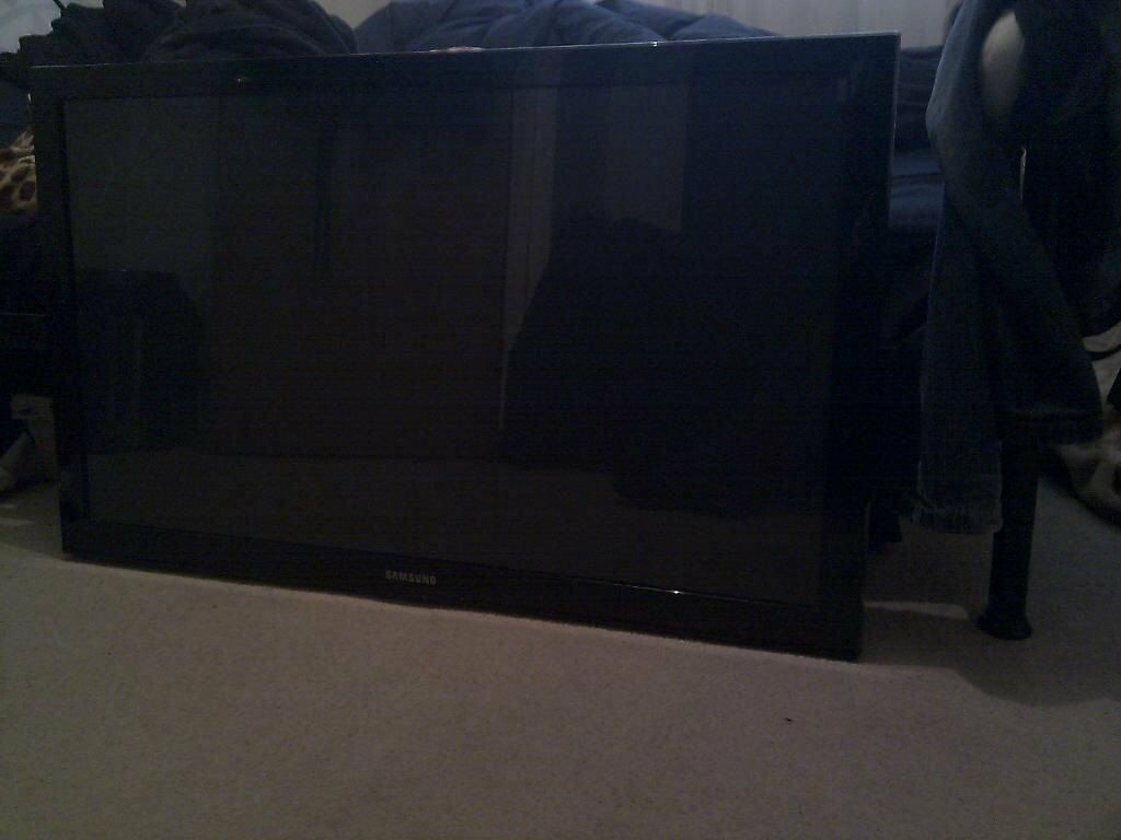 samsung tv screen replacement. samsung ps42c450b1w plasma tv broken faulty screen parts and stand television telly replacement n