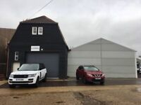 Light industrial and storage units to let