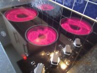 belling glass hob and new world single oven