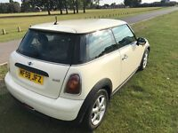 2008 **Mini Cooper Automatic 1.4 White for sale** perfect condition inside and outside