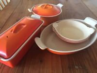 Le Creuset dishes - various