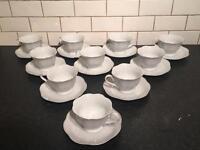 Cups/saucers/teapots and jam jars
