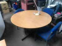 1400mm Round Beech Office Table