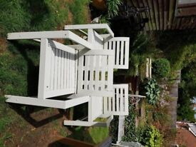 Wooden Garden Chairs and Small Wooden Garden Table - Good Condition