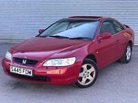 1998 HONDA ACCORD COUPE, 3.0 V6 ENGINE, GREAT SERVICE HISTORY & LONG MOT.