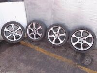 "Honda Civic 18"" Set of 4x ALLOY WHEELS and TYRES 225/40 R18 Ref. D20"