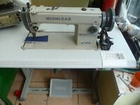 Highlead Industrial WALKING FOOT TOP & BOTTOM FEED Sewing machine Model GC0318-1 With new Table