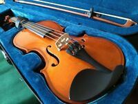 kids violin 3/4 size with carry case and resin