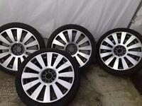 "18"" x 8J multi-fit wheels w/ tyres off Audi"