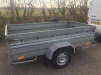 """8ft x 4ft 3"""" Neptun Tipping Trailer (both ends drop) Spare Wheel"""