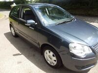 VW POLO 2005 1.4 DIESEL. NEW SHAPE. GREY.