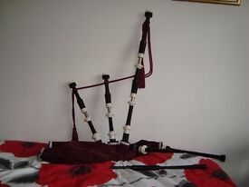 Set of Highland bagpipes as New